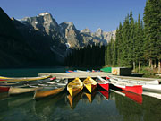 Moraine Lake Lodge - Canoes are complimentary to guests