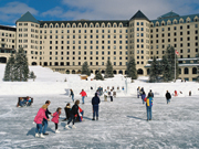 Fairmont Chateau Lake Louise - Skating on Lake Louise