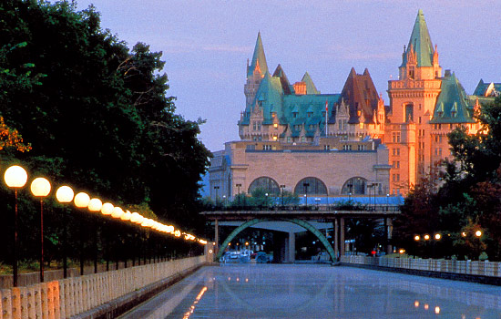 The Iconic Fairmont Chateau Laurier Hotel In Ottawa
