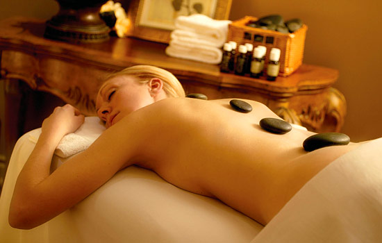 Enjoying spa treatment or massage - Enjoying spa treatment or massage