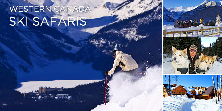 World class skiing on a train Canada tour