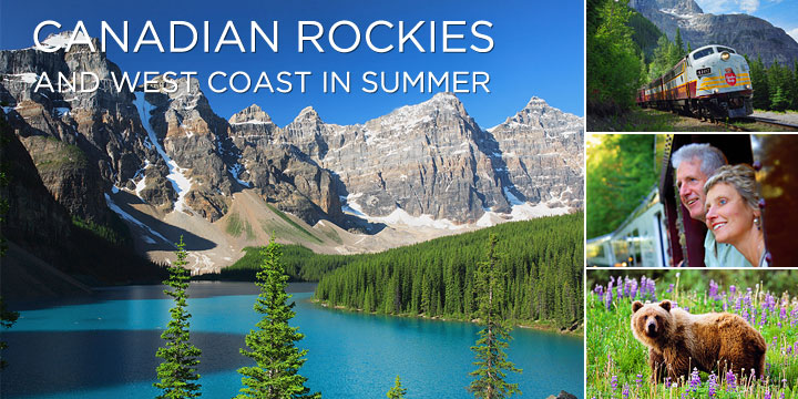 Cross Canada by train onboard the Rocky Mountaineer and Via Rail