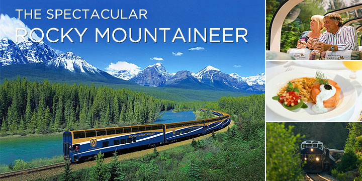 Take the Rocky Mountaineer train through the Canadian Rockies