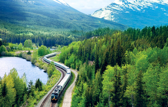 Canada rail - Canadian pacific railway - You'll spend a few nights onboard the Via Rail 'Canadian' train as you travel across Canada.
