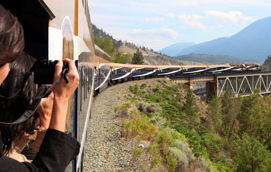 Canada rail - Canadian pacific railway - Then board the Rocky Mountaineer train for a spactacular journey from the Rockies to Vancouver.