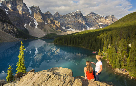 You'll spend a few days in the Canadian Rockies, soaking in the beautiful scenery.