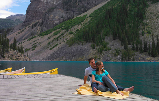 Spend some relaxing time at the beautiful Chateau on Lake Louise.