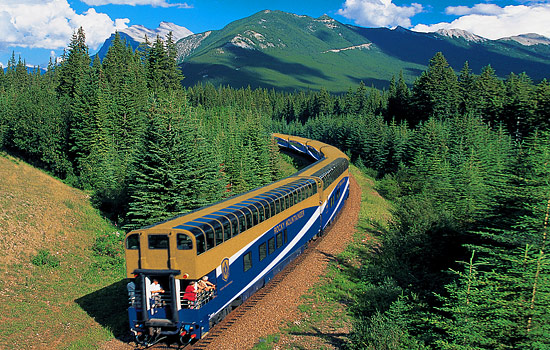 Then wind your way through the Canadian Rockies on the Rocky Mountaineer.