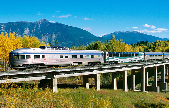 Then board the Canadian train for an epic 3 night journey across the country.