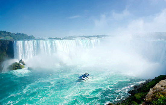 Visit Niagara Falls, an awe inspiring natural wonder.