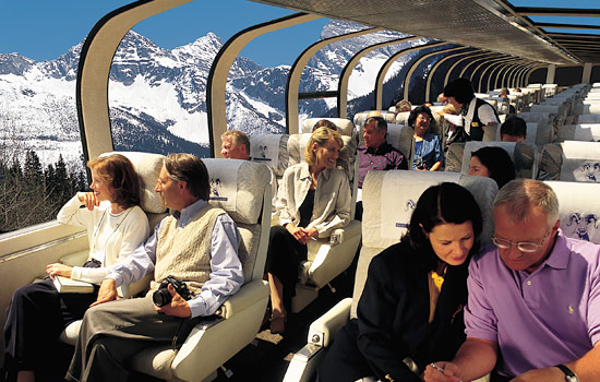 End your Canada rail journey onboard the spectacular Rocky Mountaineer train to Vancouver.