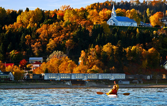 After a taste of French Canadian cities, voyage on the train into the heart of Charlevoix