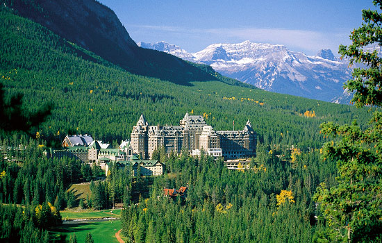 Canadian train - Rocky Mountaineer - Arrive in Banff and indulge in all the spledor and beauty around.