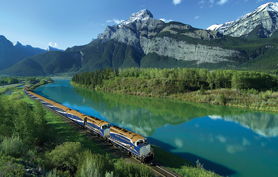 Canadian train - Rocky Mountaineer - Then take the spectacular Rocky Mountaineer train to the Canadian Rockies.