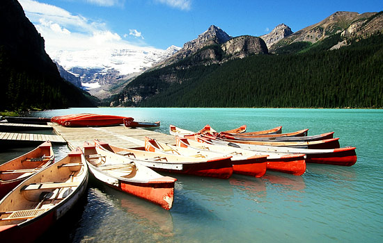 On your last day soak in the spectacular scenery of glacier fed turquoise Lake Louise and area.