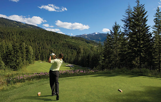 Rocky Mountaineer - Canada rail - Play golf at one of Whistler's world class golf courses.
