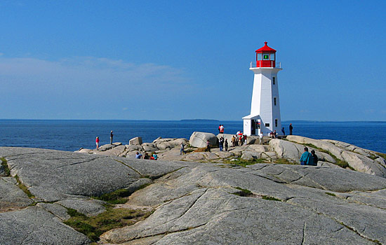 Lighthouses stand as sentries, all along the coast - the most famous is Peggy's Cove.