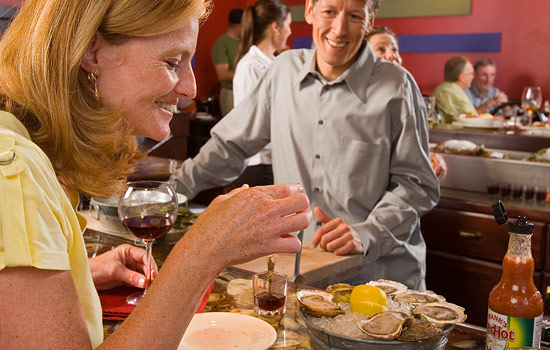 Sample the local fare on your way. Taste freshly caught lobster, oysters, mussels and clams.