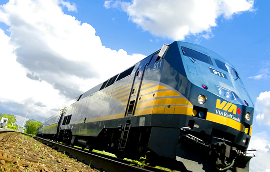 Canadian train - Canadian pacific railway - Via Rail 'Corridor' train will take you from Montreal to Quebec City.