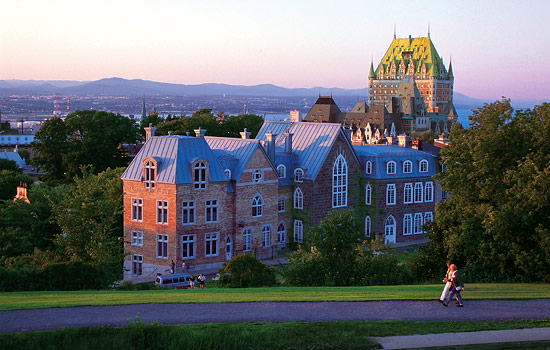Canadian train - Canadian pacific railway - Relax in historic Quebec City enjoying the beautiful views.