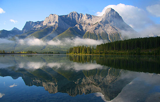  - After traveling through the Kootenays, drive Banff National Park.