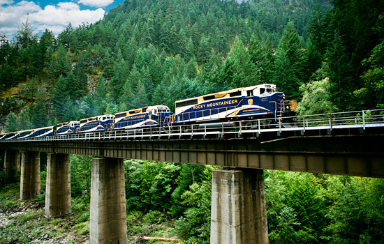  - A train journey on the Rocky Mountaineer brings you to the West Coast.