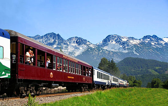 Experience breathtaking beauty as you journey onboard the Whistler Mountaineer