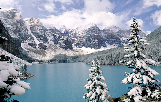 Admire the majestic landscapes with beautiful snow covered mountains everywhere you look.