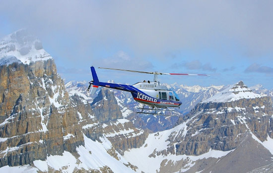 Head to the skies and explore Banff National Park by helicopter.