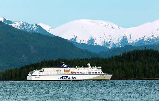 Then sail down the rugged coast through Inside Passage for a day.